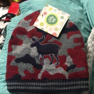 NEW Little Me Little Boys Reversible Camo Knit
